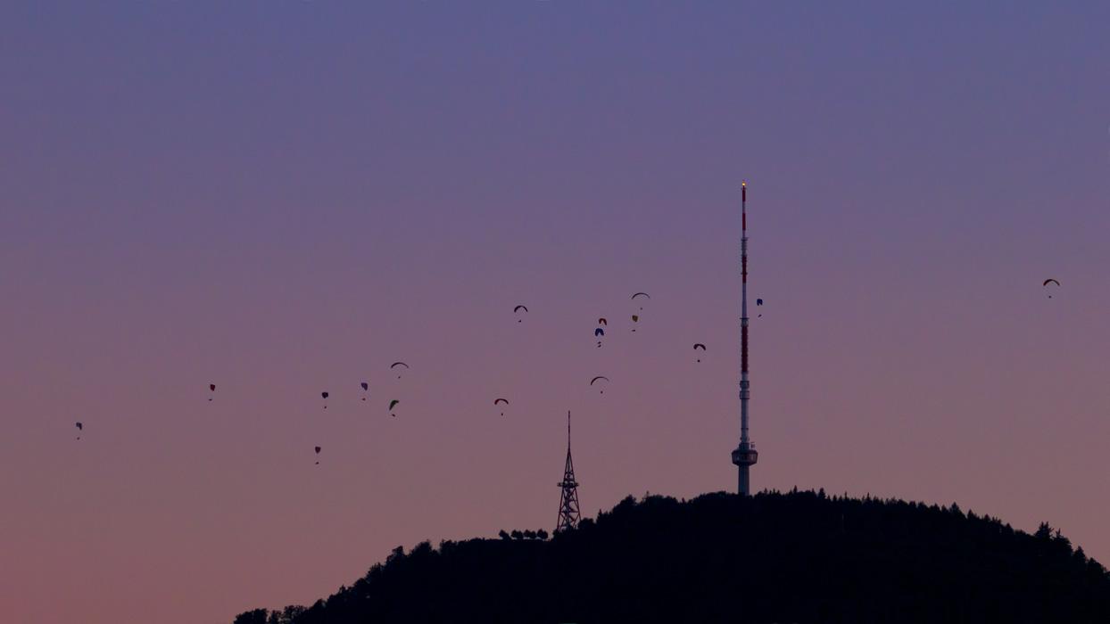 Paragliding Above Uetli